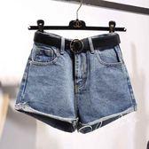 高腰牛仔短褲女春夏闊腿胖mm200斤寬鬆加肥加大碼顯瘦a字熱褲子潮 免運直出 聖誕交換禮物