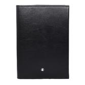 MONTBLANC萬寶龍 夜航系列亮面牛皮RFID防盜護照夾 黑色 118284 Black