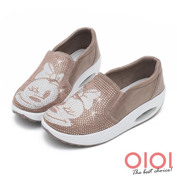 搖搖鞋 俏皮卡通鑽飾氣墊搖搖鞋(粉駝)*0101shoes【18-620pk】【現貨】