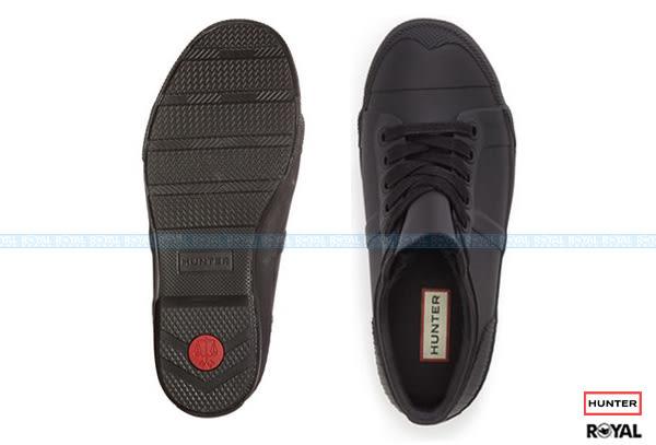 【特價 7 折】Hunter Boots 新竹皇家 Rubber Low 黑色 橡膠 鞋帶 休閒 雨鞋 女款 NO.I7224