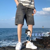 牛仔短褲 男士夏季寬鬆直筒薄款潮流七分中褲男裝外穿休閒五分褲子 4色