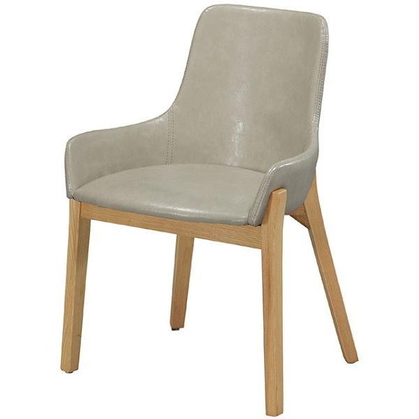 餐椅 CV-761-7 YS-16綠皮原木腳餐椅【大眾家居舘】