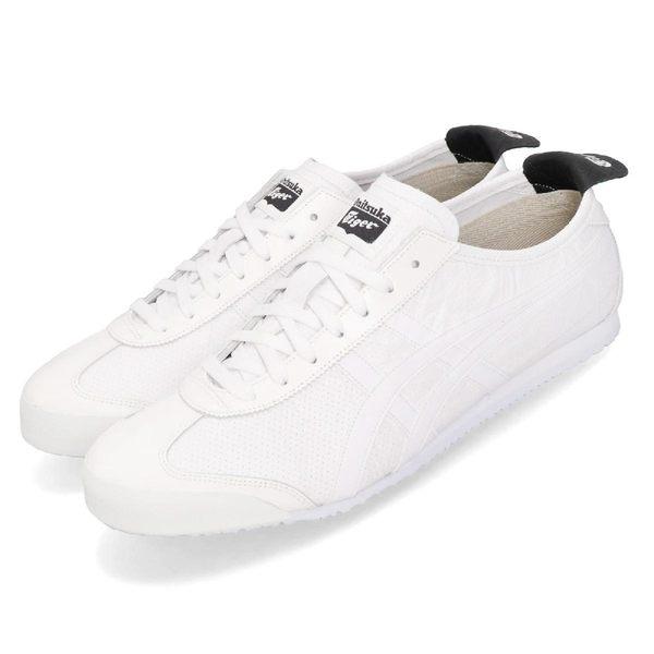 Asics 休閒鞋 Mexico 66 白 黑 皮革 復古 男鞋 女鞋 經典款【PUMP306】 1183A443100