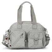 Kipling經典Basic雙口袋Defea肩側背兩用波士頓包(灰色)460168-132