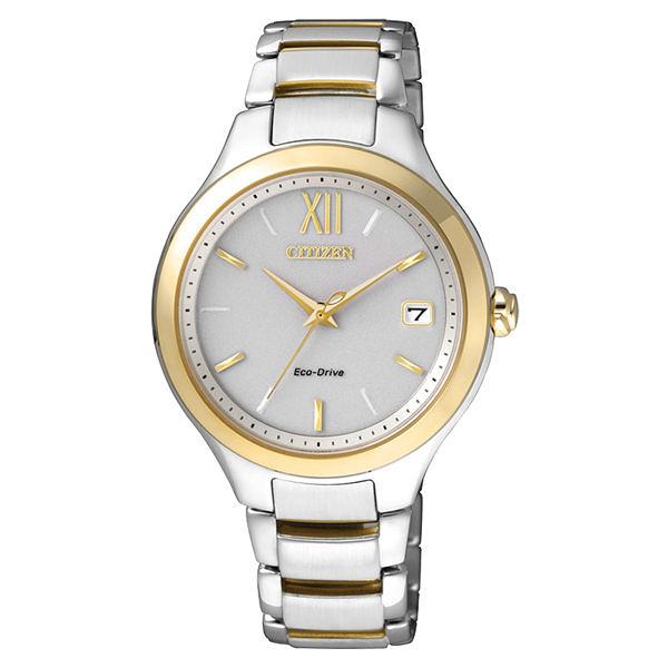 CITIZEN L系列 晶透絢燦光動能腕錶-金框白x銀