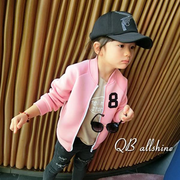 男童外套 女童外套 字母個性款空氣感棒球夾克 QB allshine