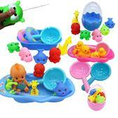 全館83折兒童洗澡玩具嬰兒戲水小黃鴨洗澡泳池玩具捏捏叫游泳水里玩的