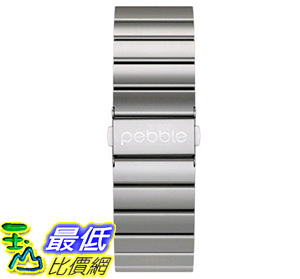 [美國直購] 錶帶 Pebble Technology Corp Smartwatch Replacement Band for Pebble Time Round 20mm Retail Packaging 61105
