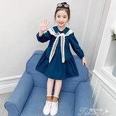 女童洋裝 女童裙子秋季新款兒童長袖連衣裙童裝女孩純棉公主裙秋裝洋氣 快速出貨