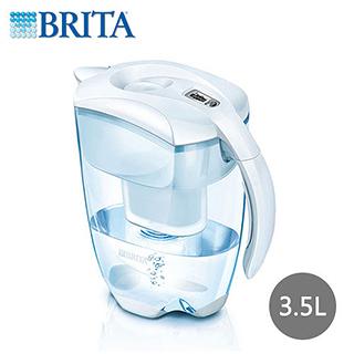 德國 BRITA ELEMARIS XL PITCHER 艾利馬智慧型濾水壺3.5L(白色款, 附3入濾心)