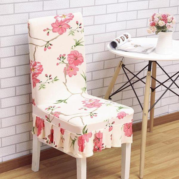 家用彈力連體餐桌椅子套罩現代簡約凳子套罩酒店餐廳座椅套布藝【全館免運八八折鉅惠】