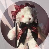 原創Lolita元素血腥熊包暗黑系玩偶改瞳背包洛麗塔軟妹斜背包包 寶貝計畫