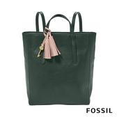 FOSSIL CAMILLA 真皮三用後背包-雲杉綠色 (可置入13吋筆電) ZB7834366