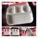 [協貿國際]唯美櫻花大容量陶瓷分隔盤深盤分格快餐盤餐盤1入