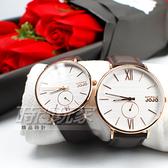 NATURALLY JOJO 情人對錶 文青風 木紋質感 小秒盤 防水手錶 玫瑰金色 對錶 JO96931-80RM/JO96931-80R