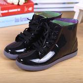 兒童雨鞋男童女童防水雨靴中大童春秋學生繫帶水鞋小孩膠鞋套鞋後街五號