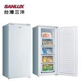 【三洋家電】125L 直立式冷凍櫃 風扇式自動除霜《SCR-125F》(含拆箱定位、不含舊機回收)