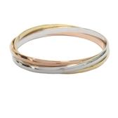 Cartier 卡地亞 Trinity系列三色K金手環  【二手名牌BRAND OFF】