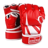 半指拳擊手套散打格斗UFC拳套 拳擊套打沙袋泰拳送繃帶