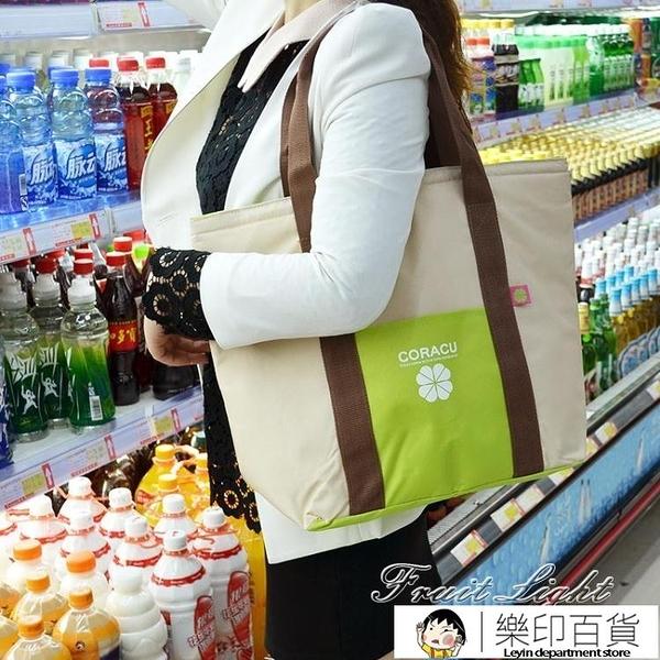 保冷袋 手提保溫袋便當包帶午餐購物保熱冷時尚加厚環保袋大號野餐包 果果輕時尚