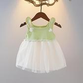 3-6月嬰幼兒夏裝0-2歲女童小童公主裙子短款洋裝無袖背心裙子潮 幸福第一站