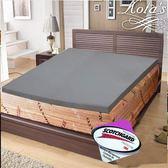 床墊  8cm 布拉德 竹炭平面 記憶 床墊 雙人5尺 -灰 KOTAS