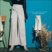 URES 設計款不規則層次綁帶棉麻寬口長褲 TOMO購物清單【881017998】