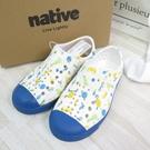 Native JEFFERSON PRINT CHILD中童鞋 洞洞鞋131001018970 藍【iSport愛運動】