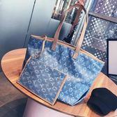 購物包 大包包牛仔布手提包大容量帆布包單肩包女潮【韓國時尚週】