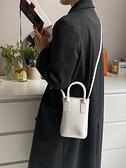 斜跨手機包 2021上新小眾青年純色女包手機包個性水桶包時尚手提包單肩斜跨包 歐歐
