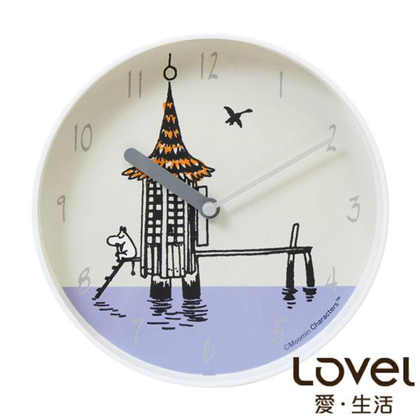 Moomin 嚕嚕米沐浴小屋鐵框壁鐘時鐘/掛鐘 20cm