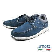 【IMAC】義大利牛皮綁帶氣墊休閒鞋  藍色(70700-BU)