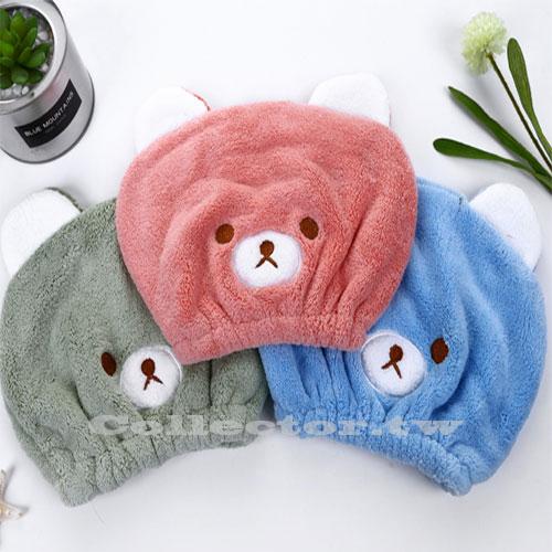 【超取399免運】兒童乾髮帽 可愛動物刺繡超強吸水乾髮帽 兒童乾髮巾