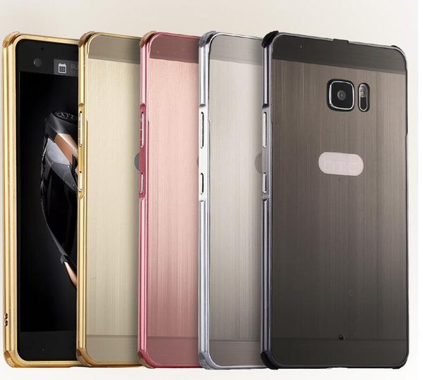 【SZ14】HTC U11手機殼 拉絲背板+電鍍邊框 HTC U11+手機皮套 HTC U Ultra手機套 金屬殼