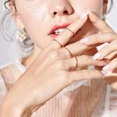 小眾設計戒指女韓國時尚氣質個性四環組合食指環關節戒子指環 歌莉婭