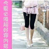 *漂亮小媽咪*加大尺碼 超好穿5%萊卡+95%純棉七分內搭褲 洋裝必搭 孕婦裝 L531