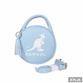KANGOL 包 英國袋鼠 流蘇 內夾層 隨身包 藍 馬卡龍圓形側背包 - 6055301181