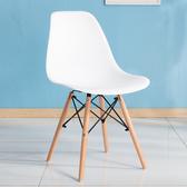 會議椅 北歐洽談接待會客家用小戶型創意簡約休閒實木會議椅子 1995生活雜貨NMS