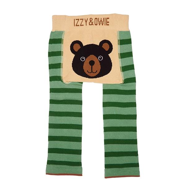 美國Izzy & Owie創意個性童裝 花漾彈性屁屁褲-可愛棕熊