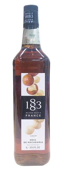 1883糖漿-頂級純天然果露糖漿-【夏威夷豆 Macadamia Nut】1000ml-有效期限:2022/10