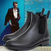 DR 男士釣魚靴雨靴水鞋套鞋暖廚房膠鞋防水鞋防滑雨鞋男~ 彩虹屋~