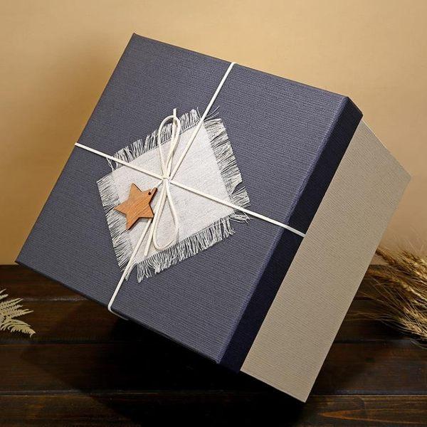 禮盒正方形禮品盒超大伴手禮禮物盒大號禮物包裝盒生日送禮盒包裝盒子-凡屋