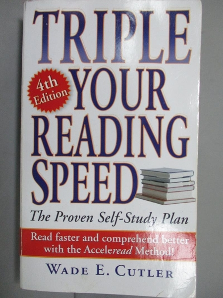 【書寶二手書T8/財經企管_LAB】Triple Your Reading Speed_Cutler, Wade E.