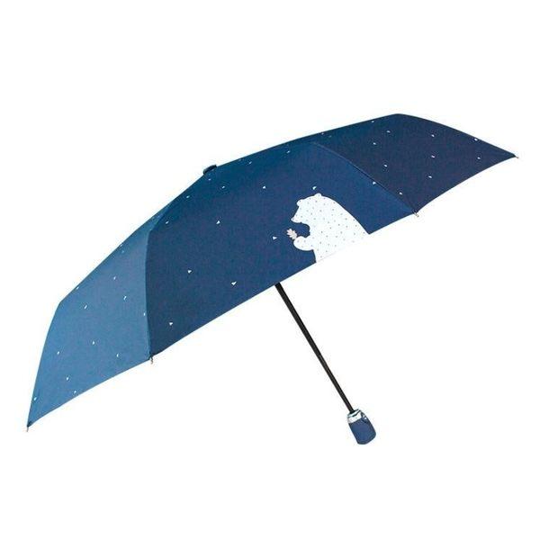 【現貨】松熊 熊熊 三折自動傘 8骨 晴雨傘 迷你黑膠傘 超輕 防曬 遮陽 自動 兩用折疊雨傘
