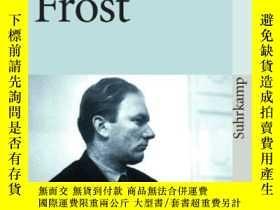 二手書博民逛書店罕見FrostY256260 Thomas Bernhard Suhrkamp Verlag 出版1972