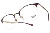 RayBan 光學眼鏡 RB6422 3007 (紅-金) 經典百搭貓眼款 # 金橘眼鏡