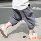 男童寬松燈籠中褲兒童七分褲休閒韓版短褲薄款褲子運動褲【淘嘟嘟】
