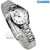 CASIO卡西歐 優雅數字小圓錶 LTP-1275D-7B 不銹鋼帶 腕錶 白色 女錶 LTP-1275D-7BDF LTP-1275D-7