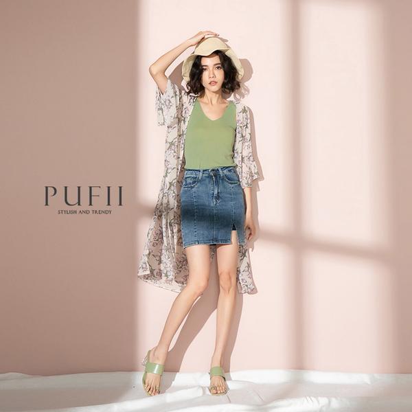 限量現貨◆PUFII-背心 寬肩帶V領素面無袖背心上衣-0421 現+預 春【CP18341】