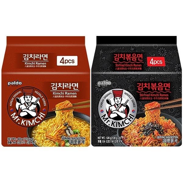 韓國 八道Paldo 泡菜先生手作泡菜湯麵/乾拌麵(4包入) 款式可選【小三美日】 團購/泡麵
